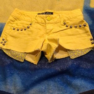 Yellow Celebrity Pink shorts. Size 0